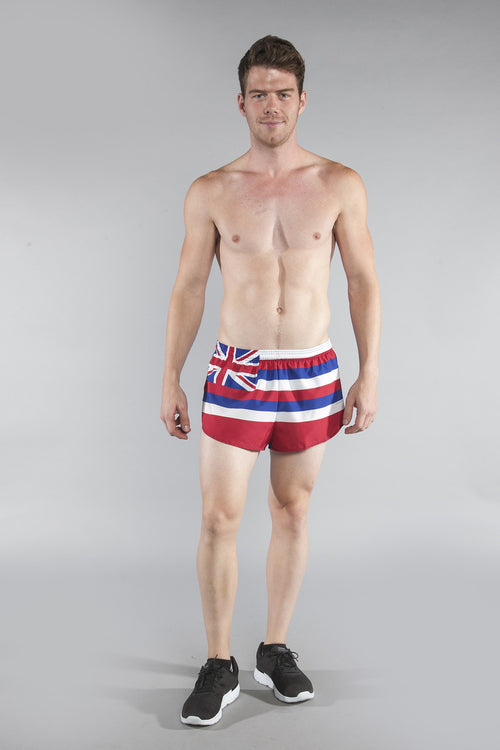 "MEN'S 1"" ELITE SPLIT SHORT- HAWAII - BOAUSA"