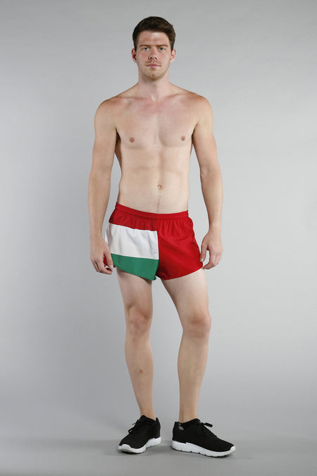MEN'S 1 INCH INSEAM ELITE SPLIT RUNNING SHORTS- AUSTRALIA