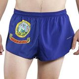 MEN'S 1 INCH INSEAM ELITE SPLIT RUNNING SHORTS- IDAHO