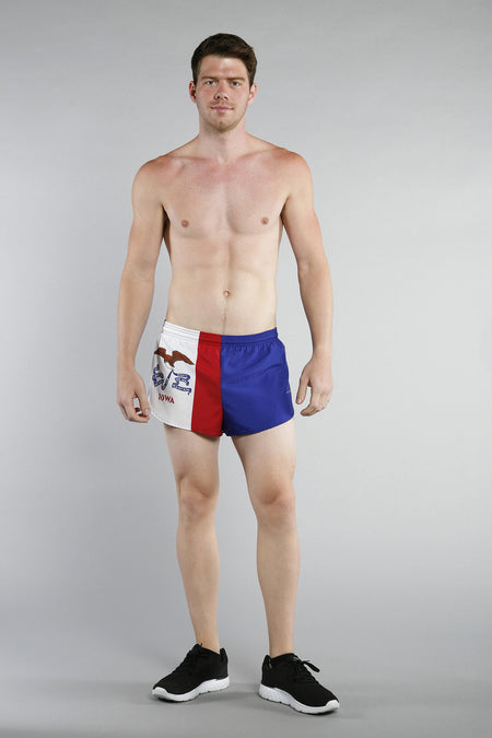 MEN'S 1 INCH INSEAM ELITE SPLIT RUNNING SHORTS- MARYLAND