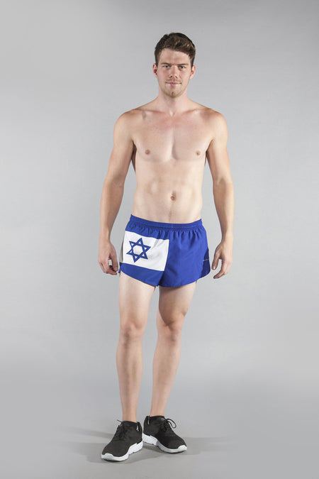 MEN'S 1 INCH INSEAM ELITE SPLIT RUNNING SHORTS- WALES