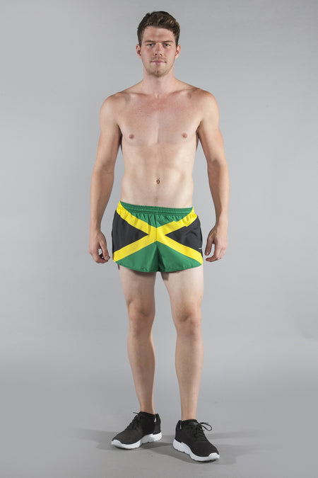 MEN'S 1 INCH INSEAM ELITE SPLIT RUNNING SHORTS- GUATEMALA
