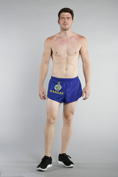 MEN'S 1 INCH INSEAM ELITE SPLIT RUNNING SHORTS- SOUTH CAROLINA
