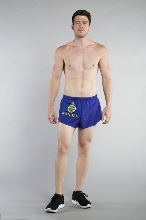 "MEN'S 1"" ELITE SPLIT SHORT- KANSAS - BOAUSA"