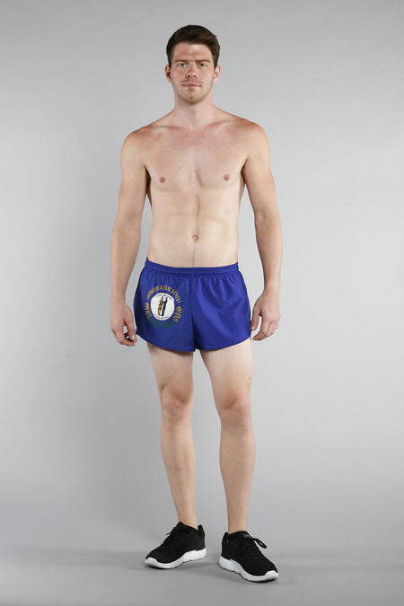 MEN'S 1 INCH INSEAM ELITE SPLIT RUNNING SHORTS- ALABAMA