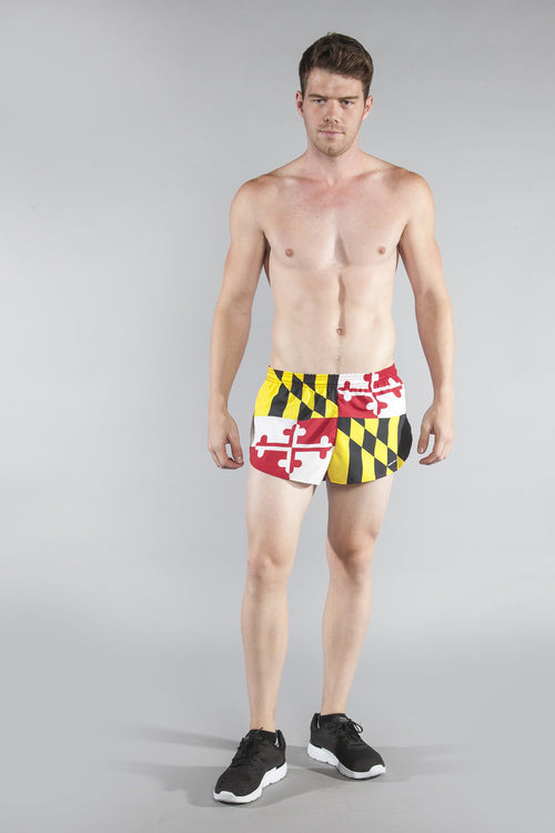 "MEN'S 1"" ELITE SPLIT SHORT- MARYLAND - BOAUSA"
