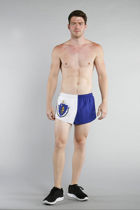 MEN'S 1 INCH INSEAM ELITE SPLIT RUNNING SHORTS- OHIO