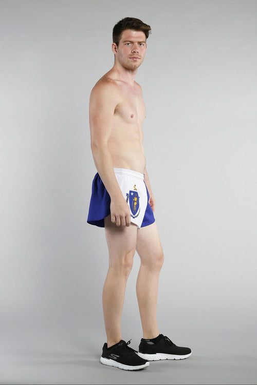 "MEN'S 1"" ELITE SPLIT SHORT- MASSACHUSETTS - BOAUSA"