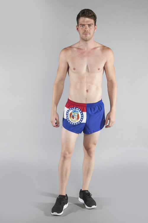 "MEN'S 1"" ELITE SPLIT SHORT- MISSOURI - BOAUSA"