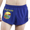 MEN'S 1 INCH INSEAM ELITE SPLIT RUNNING SHORTS- MONTANA