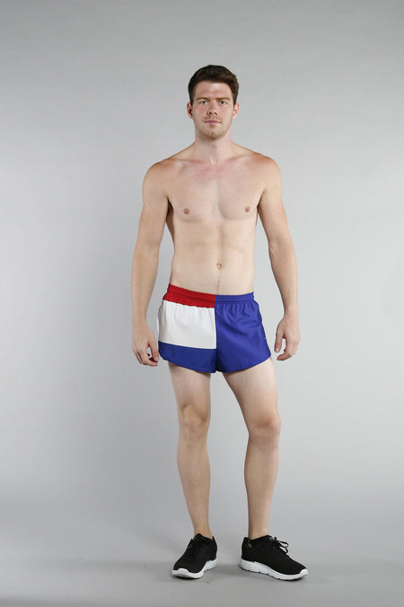 MEN'S 1 INCH INSEAM ELITE SPLIT RUNNING SHORTS- NIGERIA
