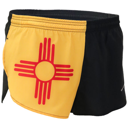 MEN'S 1 INCH INSEAM ELITE SPLIT RUNNING SHORTS- MICHIGAN