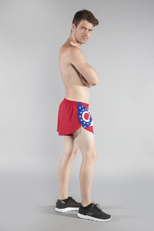 "MEN'S 1"" ELITE SPLIT SHORT- OHIO - BOAUSA"