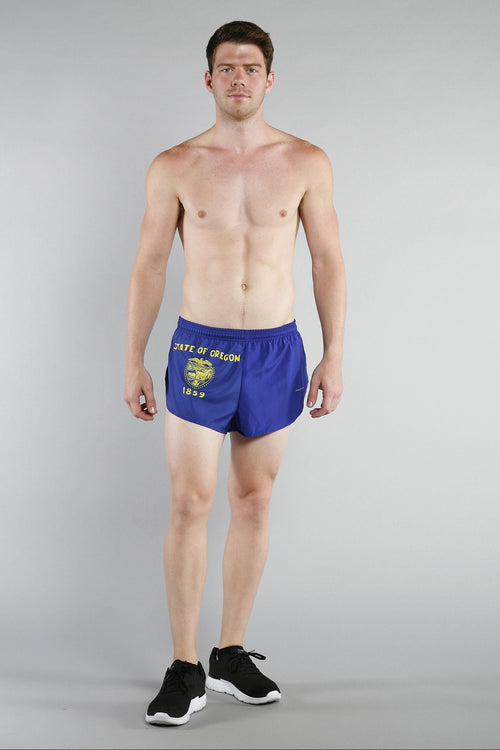 "MEN'S 1"" ELITE SPLIT SHORT- OREGON - BOAUSA"
