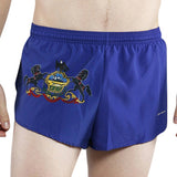 MEN'S 1 INCH INSEAM ELITE SPLIT RUNNING SHORTS- PENNSYLVANIA