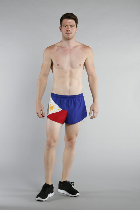 MEN'S 1 INCH INSEAM ELITE SPLIT RUNNING SHORTS- LEBANON