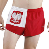 MEN'S 1 INCH INSEAM ELITE SPLIT RUNNING SHORTS- POLAND