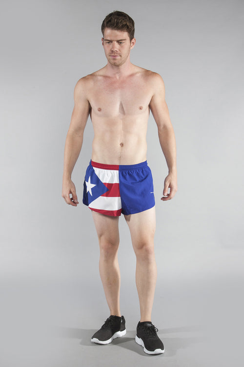 "MEN'S 1"" ELITE SPLIT SHORT- PUERTO RICO - BOAUSA"