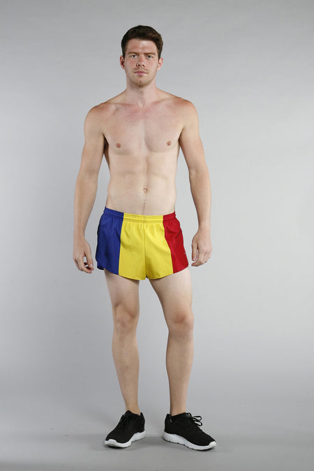 MEN'S 1 INCH INSEAM ELITE SPLIT RUNNING SHORTS- KAZAKHSTAN