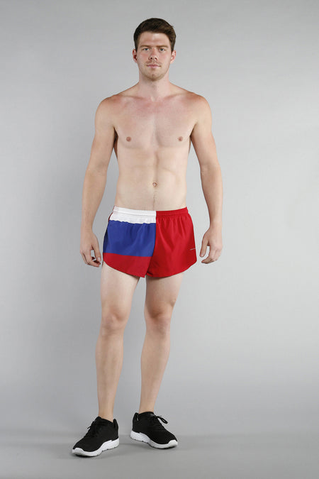 MEN'S 1 INCH INSEAM ELITE SPLIT RUNNING SHORTS- PUERTO RICO