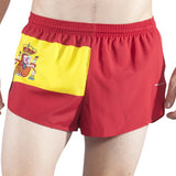MEN'S 1 INCH INSEAM ELITE SPLIT RUNNING SHORTS- SPAIN