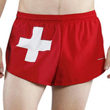 MEN'S 1 INCH INSEAM ELITE SPLIT RUNNING SHORTS- SWITZERLAND