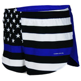 MEN'S 1 INCH INSEAM ELITE SPLIT RUNNING SHORTS- THIN BLUE LINE