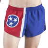 MEN'S 1 INCH INSEAM ELITE SPLIT RUNNING SHORTS- TENNESSEE