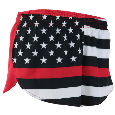 "MEN'S STRETCH 3"" PRINTED HALF SPLIT TRAINER- AMERICAN FLAG"