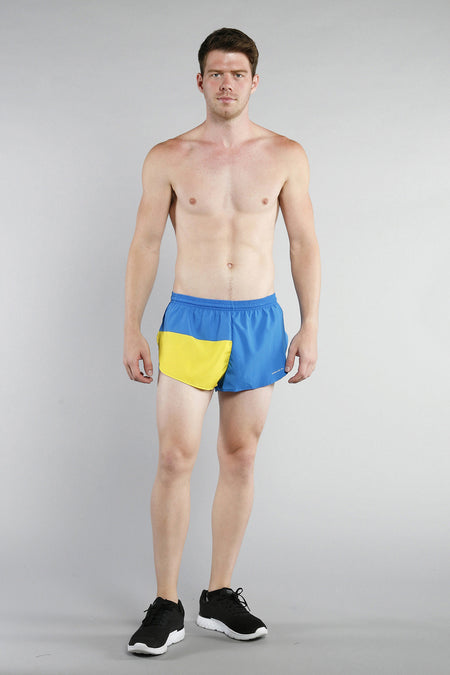 MEN'S 1 INCH INSEAM ELITE SPLIT RUNNING SHORTS- SOUTH KOREA
