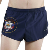 MEN'S 1 INCH INSEAM ELITE SPLIT RUNNING SHORTS- UTAH