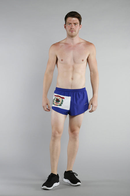 MEN'S 1 INCH INSEAM ELITE SPLIT RUNNING SHORTS- TEXAS COME & TAKE IT