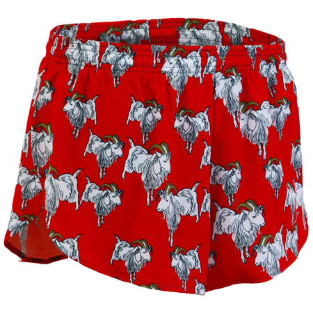 "MENS STRETCH 1"" ELITE PRINTED SPLIT RUN SHORT- PIZZA"