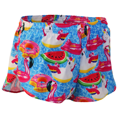 "Men's Rubber Duckie 2n1 1"" Elite Split Shorts"