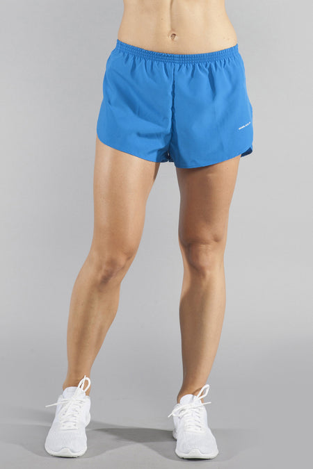"Women's Lightning Bolt Stretch 1"" Elite Split Running Shorts"