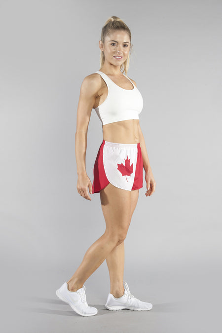"WOMEN'S 1"" ELITE SPLIT SHORT- THIN RED LINE"
