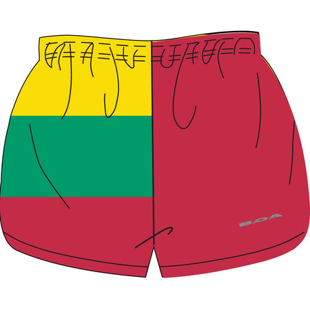"WOMEN'S 1"" ELITE SPLIT SHORT- NORTH KOREA"