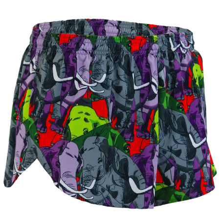 "WOMENS 1"" ELITE SPLIT RUNNING SHORT- ROYAL"