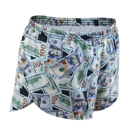 "WOMENS STRETCH 1"" ELITE PRINTED SPLIT RUN SHORT- DONUTS"