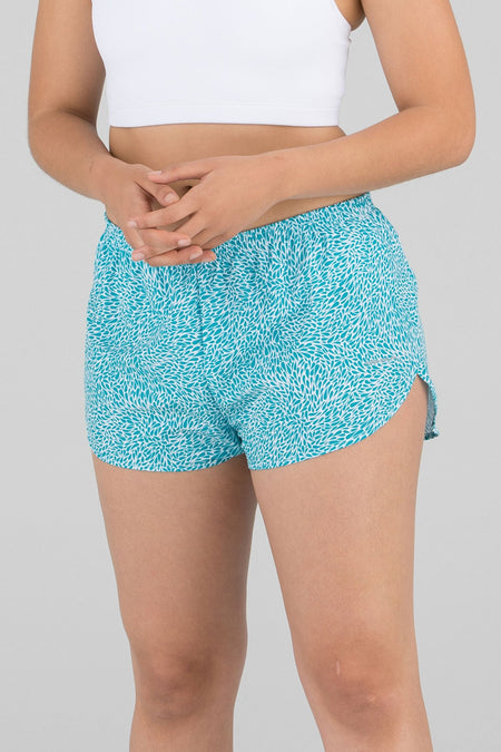 "WOMEN'S LINERLESS 3"" MIX & MATCH RUNNING SHORTS- VAMPIRE BLUE"