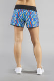 WOMEN'S STAMINA STRETCH RUN SHORT- SURF'S UP! - BOAUSA