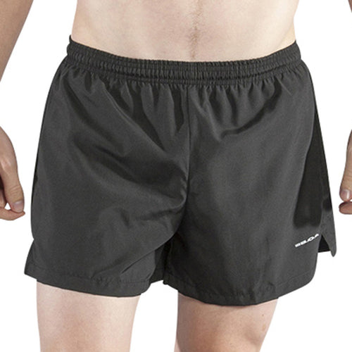 "Men's Black 3.75"" V-Notch Shorts"