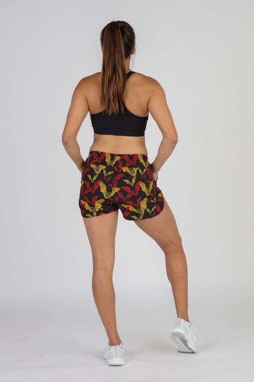 "WOMEN'S LINERLESS 3"" MIX & MATCH RUNNING SHORTS- VAMPIRE BLACK"