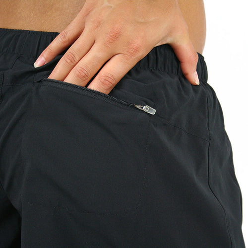 WOMENS 5 INCH PROFILE RUNNING SHORTS- BLACK - BOAUSA