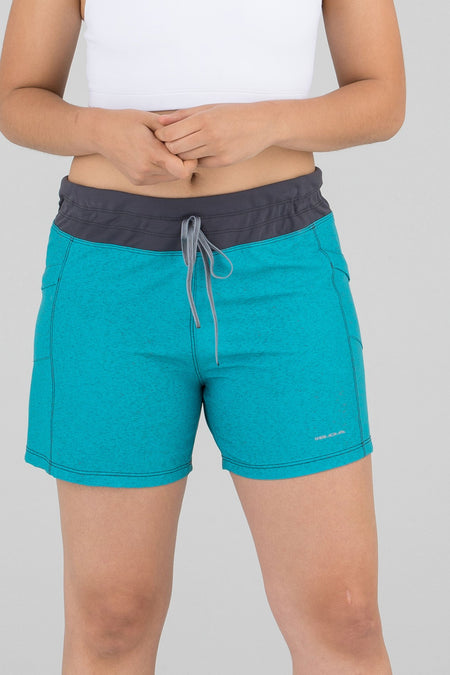 "WOMEN'S PLAYA 5"" SOFT WAIST RUNNING SHORTS- CYPHER ELECTRIC"