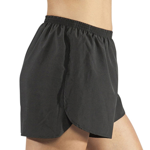 "Women's Black 1.5"" Half Split Trainer Shorts"