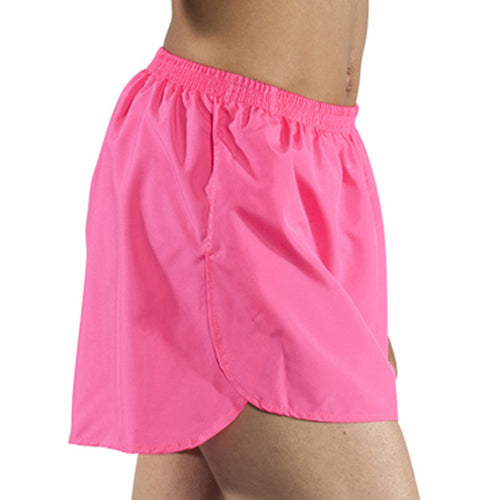 "Women's Hot Pink 1.5"" Half Split Trainer Shorts"