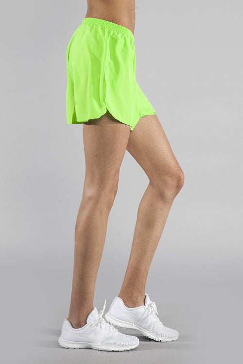 "WOMEN'S 1.5"" SPLIT TRAINER- NEON LIME - BOAUSA"