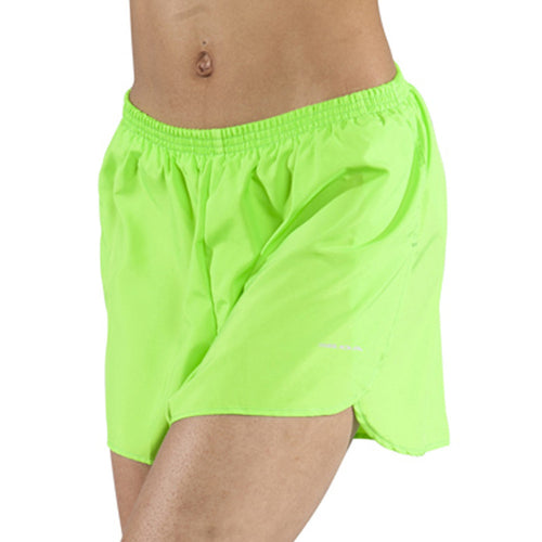 "Women's Neon Lime 1.5"" Half Split Trainer Shorts"