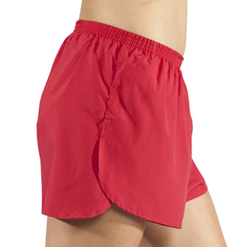 "Women's Red 1.5"" Half Split Trainer Shorts"